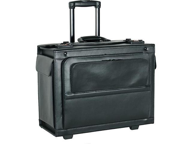 Netpack 18in. Leather Rolling Laptop Catalog Case