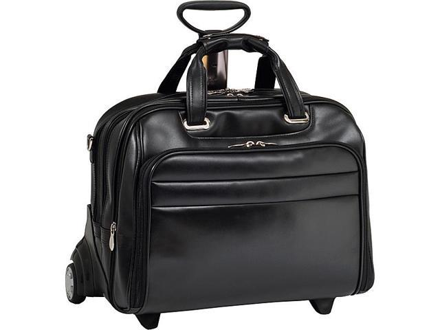 McKlein USA R Series Midway Leather Wheeled Laptop Case