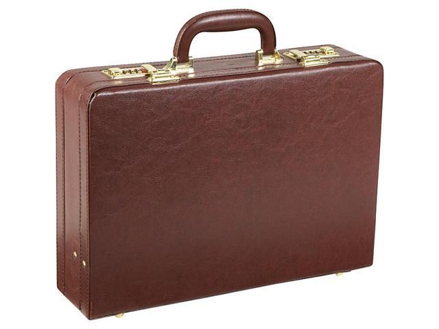AmeriLeather Expandable Executive Faux Leather Attache Case