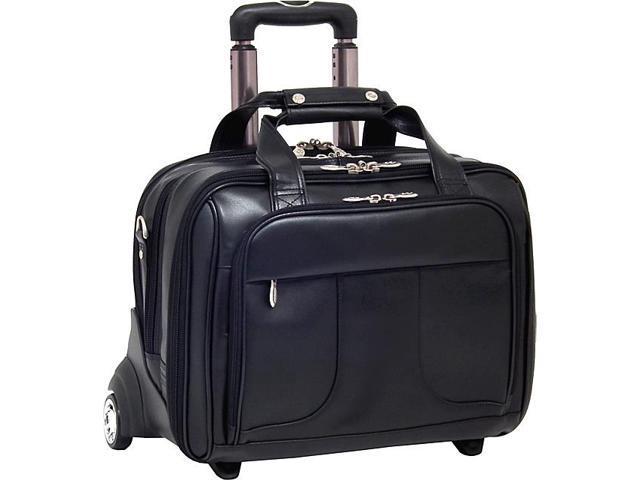 McKlein USA Chicago Leather Wheeled 17in. Laptop Case