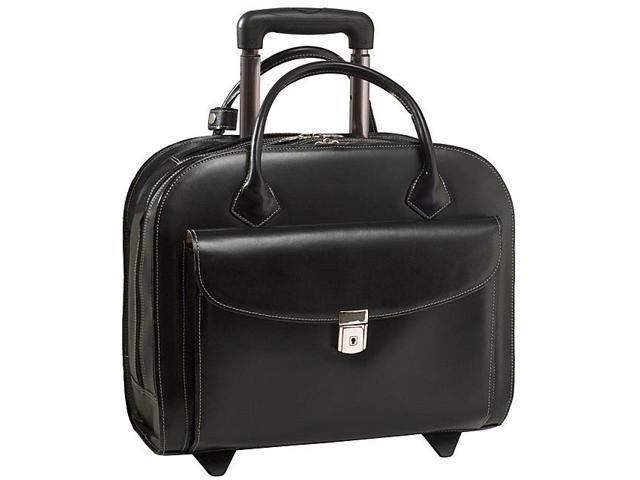 McKlein USA Granville Leather 15.4in. Wheeled Ladies' Laptop Case
