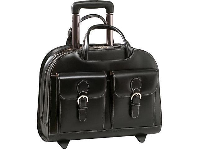 McKlein USA Davis Leather 15.4in. Wheeled Ladies' Laptop Case