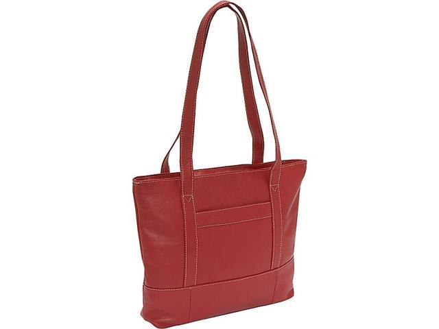 Piel Top-Zip Business Tote