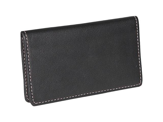 Royce Leather Classic Business Card Case, Black - 401-BLACK-5
