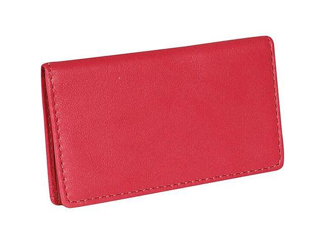 Royce Leather Classic Business Card Case, Red - 401-RED-5