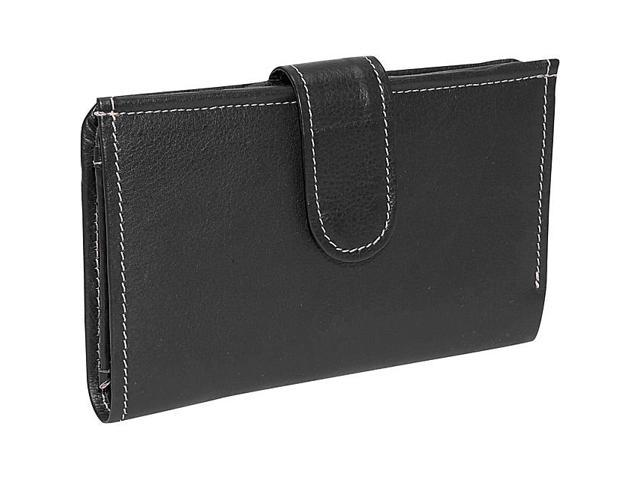 Piel Leather Ladies Wallet, Black - 9060-BLK