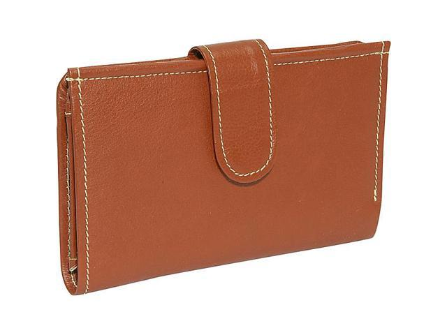 Piel Leather Ladies Wallet, Saddle - 9060