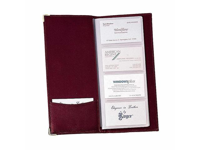 Royce Leather Business Card File