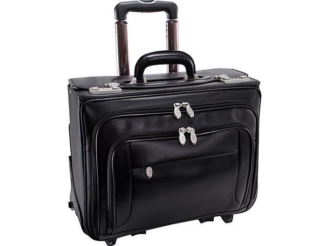 McKlein USA Sheridan Leather  Wheeled 17in. Laptop Catalog Case