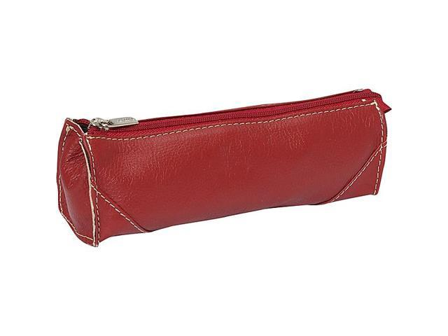 Piel Leather Brush Pencil Bag, Red - 2583-RD