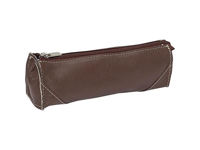 Piel Leather Brush Pencil Bag, Chocolate - 2583-CHC