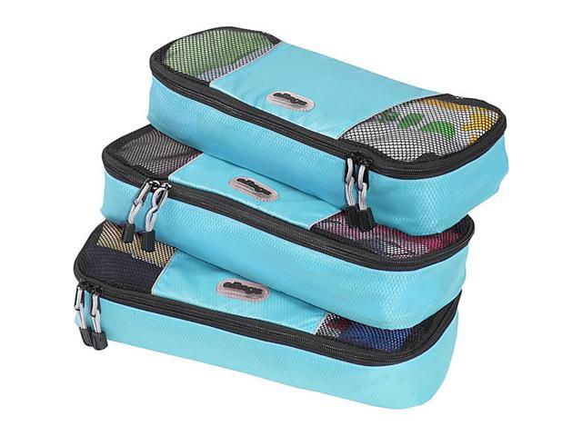 eBags Slim Packing Cubes - 3pc Set - Aquamarine