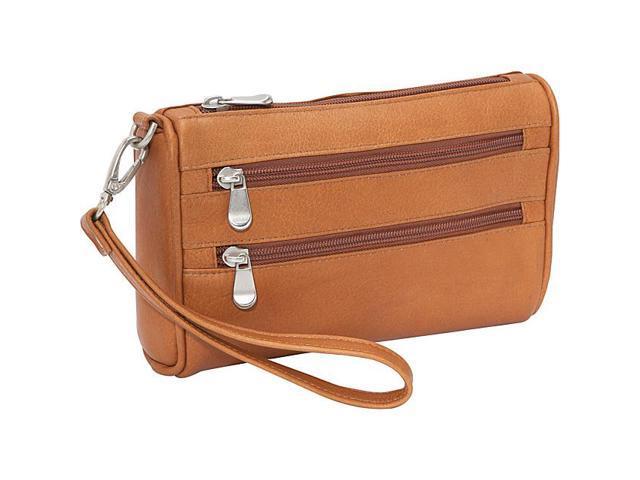 Le Donne Leather Two Zip Wristlet Clutch