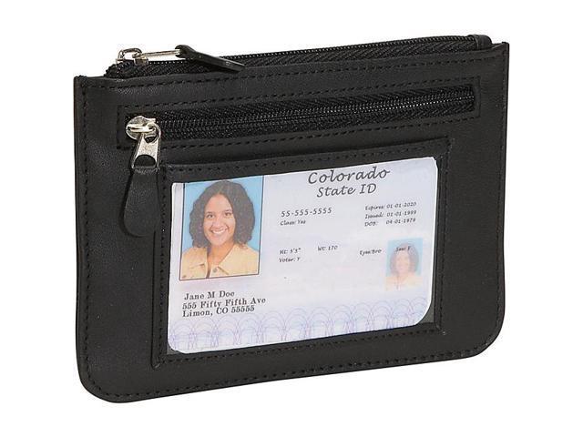 Royce Leather 'Penelope' Slim City Wallet, Black - 118-BLACK-5
