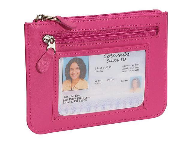 Royce Leather 'Penelope' Slim City Wallet, Wildberry - 118-WB-5
