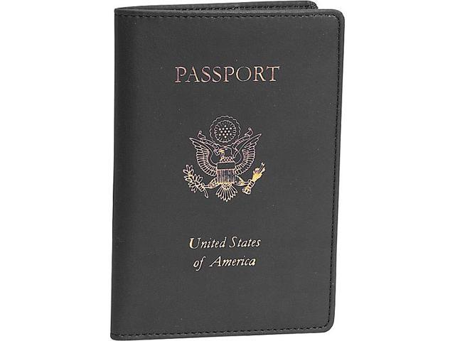 Royce Leather Foil Stamped Passport Jacket