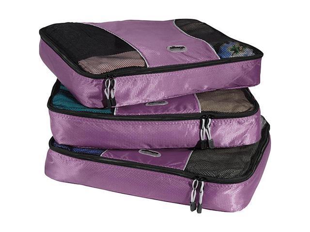 eBags Large Packing Cubes (3Pcs Set) - Eggplant