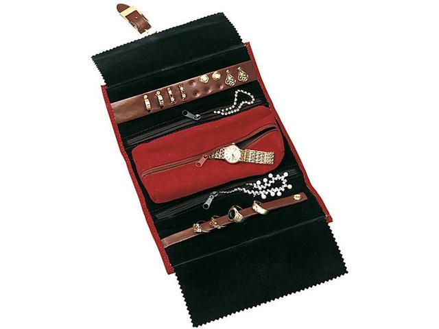 Budd Leather Leather and Suede Jewel Roll