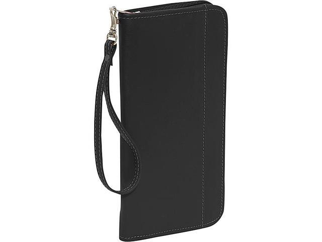 Piel Zippered Passport/Ticket Holder
