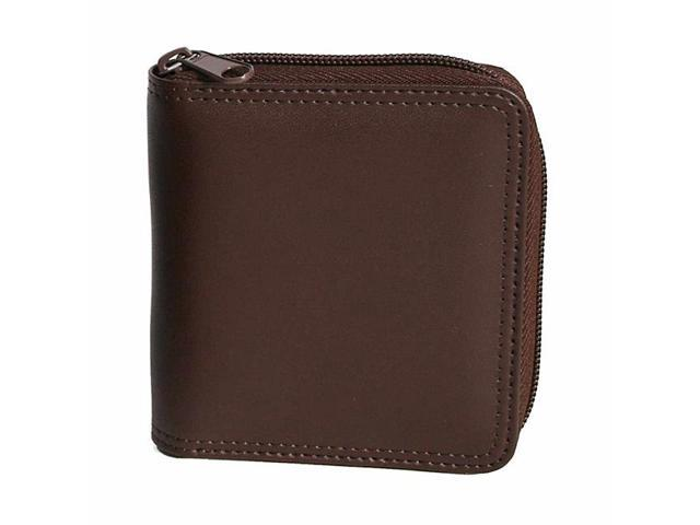 Royce Leather Zip Around Wallet, Brown - 120-BROWN-6