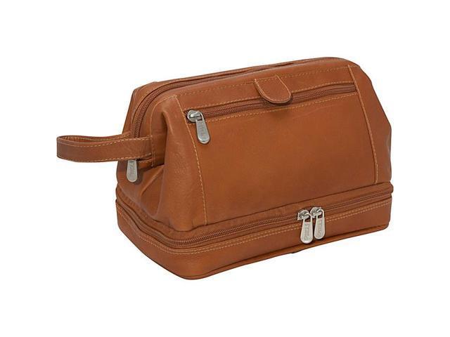 Piel Leather U Frame Utility Kit W/ Zip Bottom, Saddle - 2288