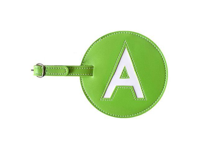 pb travel Leather Initial 'A' Luggage Tag Set of Two