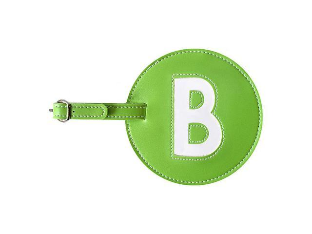 pb travel Leather Initial 'B' Luggage Tag Set of 2