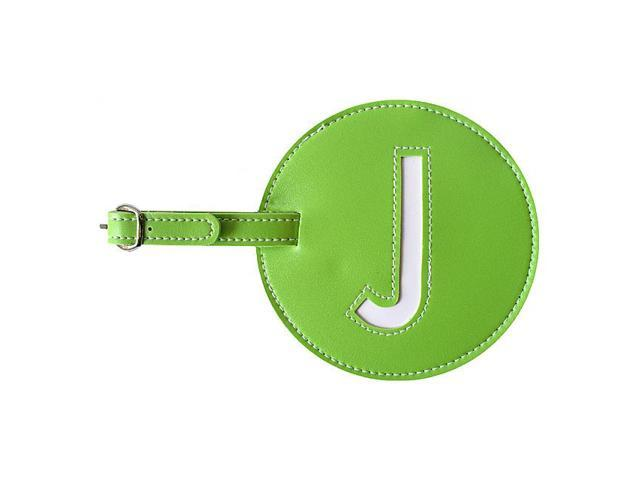 pb travel Leather Initial 'J' Luggage Tags Set of 2