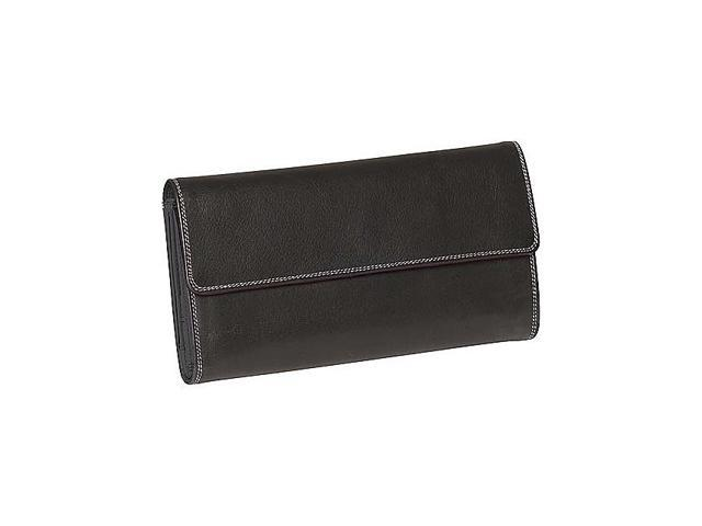 Derek Alexander Ladies 3-Part Checkbook Clutch