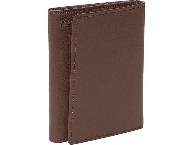 Royce Leather Men's Tri-Fold Wallet with Double ID Window, Coco - 101-COCO-5
