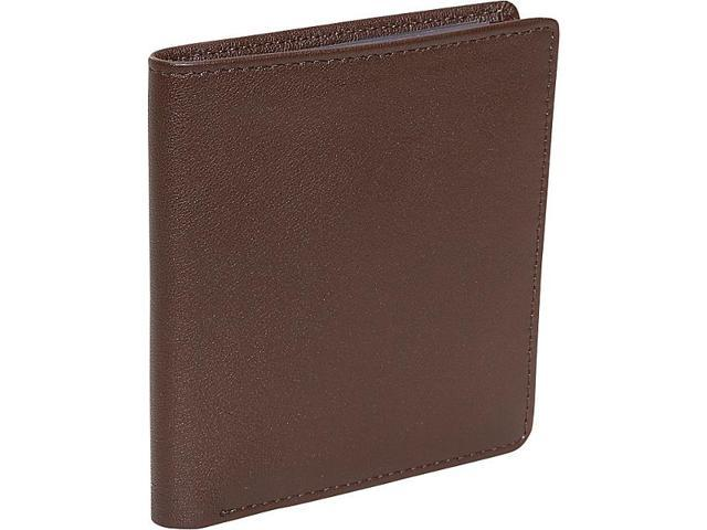 Royce Leather Men's Two-Fold Wallet, Coco - 102-COCO-5