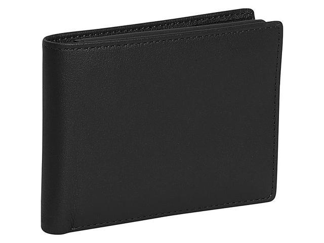 Royce Leather Men's Removable ID Pass Case Wallet, Black - 104-BLACK-5