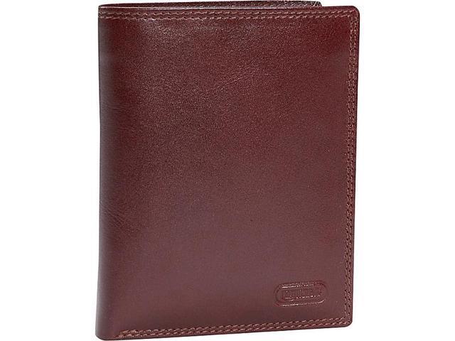 Leatherbay Double Fold Leather Wallet w/Detachable ID Window