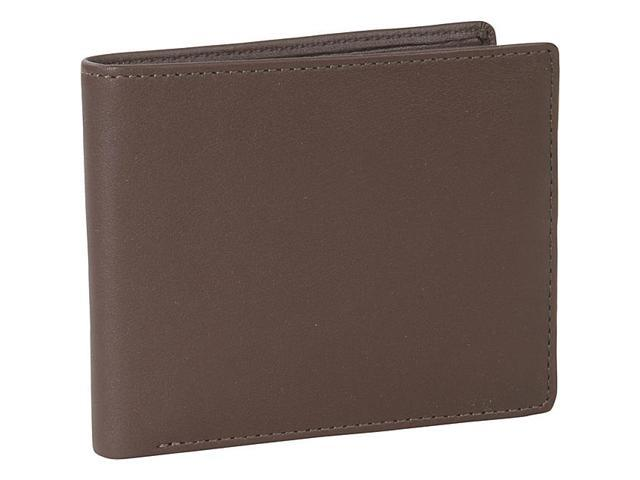 Royce Leather Men's Bifold Wallet With Double ID Flap, Coco - 110-COCO-5