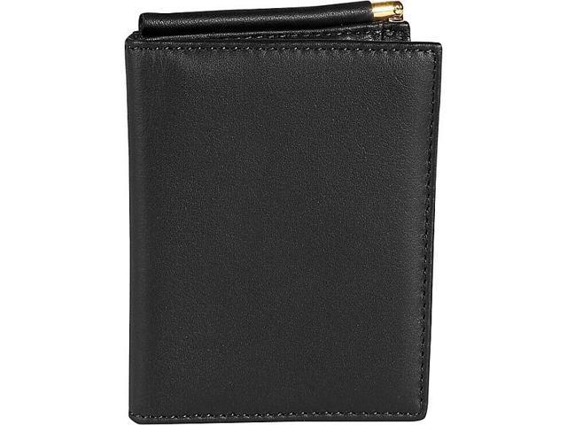 Royce Leather Men's Money Clip Wallet, Black - 114-BLACK-5