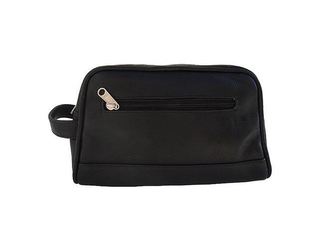 Piel Leather Top Zip Toiletry Kit , Black - 7752-BLK