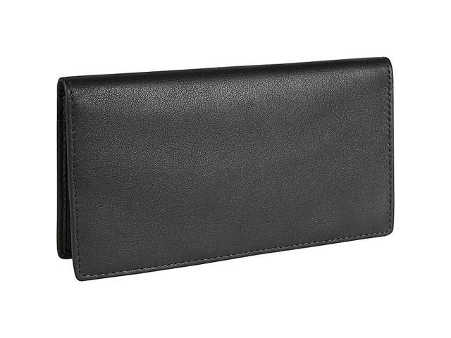 Royce Leather Checkbook Secretary, Black - 145-BLACK-5