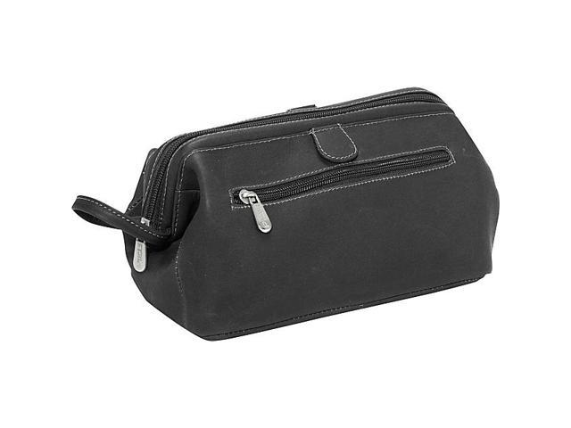 Piel Leather Deluxe Top Frame Traveling Kit, Black - 9056-BLK