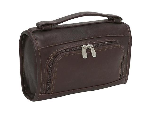 Piel Leather Half-Moon Utility Kit, Chocolate - 9138-CHC