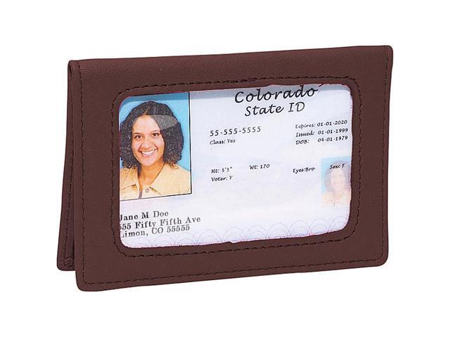 Royce Leather Tri-View ID Holder Card Case, Coco - 407-COCO-5