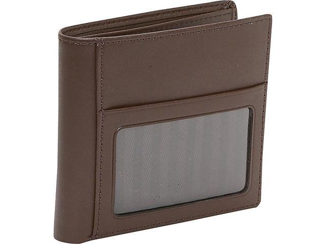 Royce Leather Double ID Hipster Wallet, Brown - 119-BROWN-6