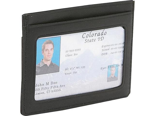 Royce Leather Mini ID & Credit Card Holder , Black - 406-BLK-5