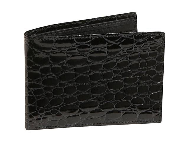 Budd Leather Crocodile Bidente Wallet with Passcase