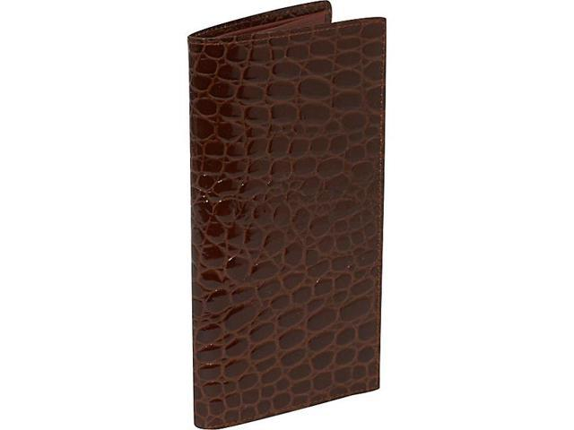 Budd Leather Crocodile Bidente Slim Secretary