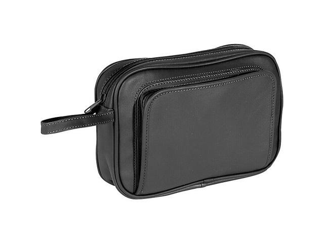 Royce Leather Toiletry Grooming Kit, Stainless Steel Implements - 254-BLACK-5