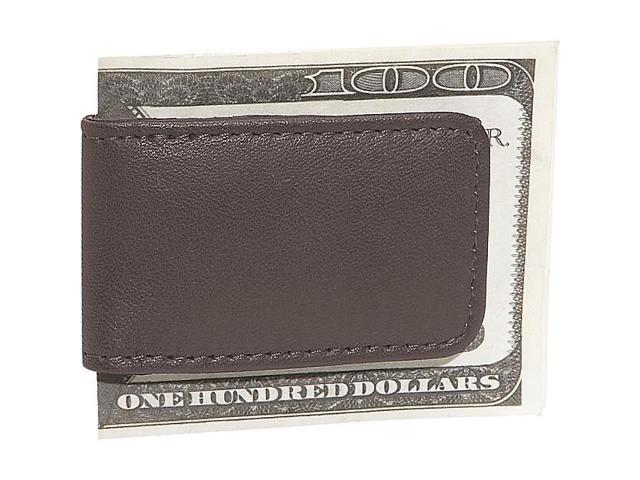 Royce Leather Classic Magnetic Money Clip, Brown - 810-BROWN-5