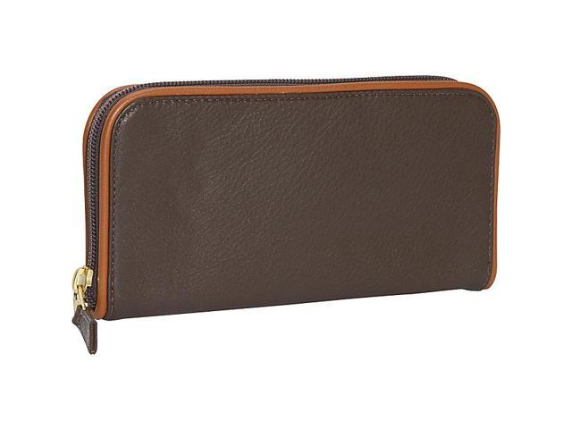 J. P. Ourse & Cie. Roomy Zip Clutch Wallet