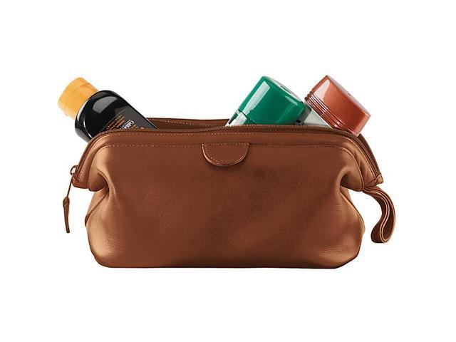 Royce Leather Classic Toiletry Bag, Tan - 265-TAN-6
