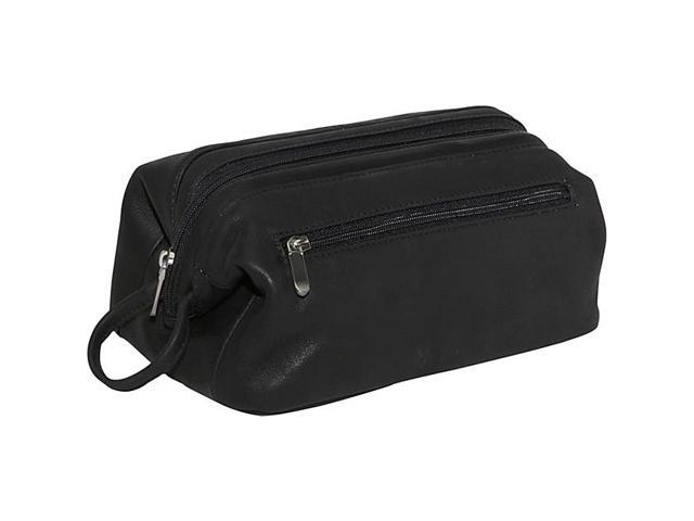 Royce Leather Colombian Vaquetta Cowhide Toiletry Bag, Black - 259-BLK-COL