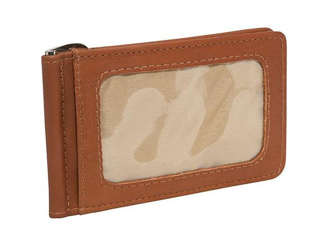 Piel Leather Bi-Fold Money Clip W/Id Window, Saddle - 2633